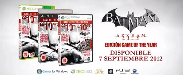 Batman Arkham City: Edición Game of the Year