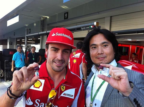 Fernando Alonso y Hideo Baba