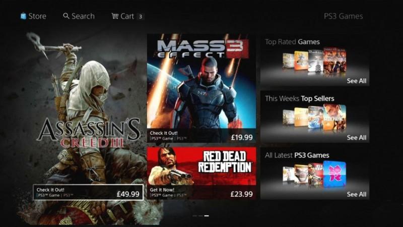 Actualización de la nueva PS Store