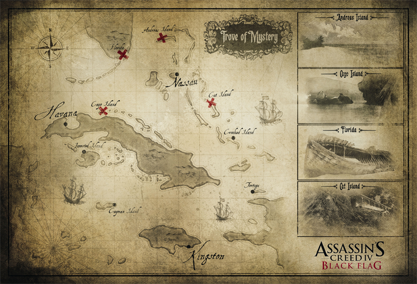 Assassin's Creed IV: Black Flag Map