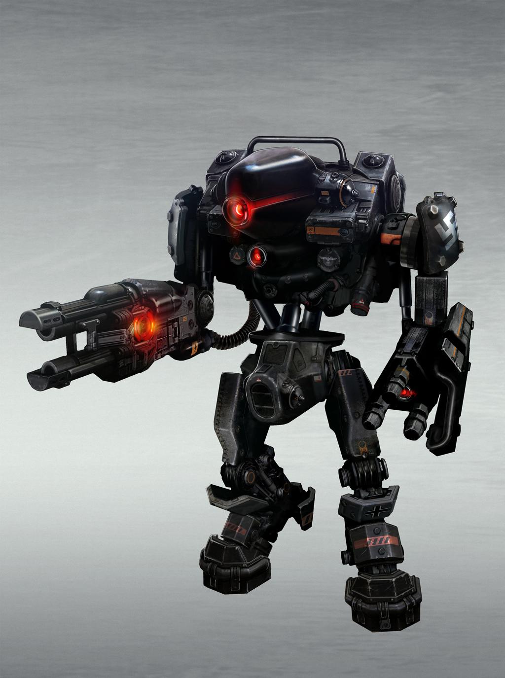 Wolfensteintheneworder Guardrobot Layered