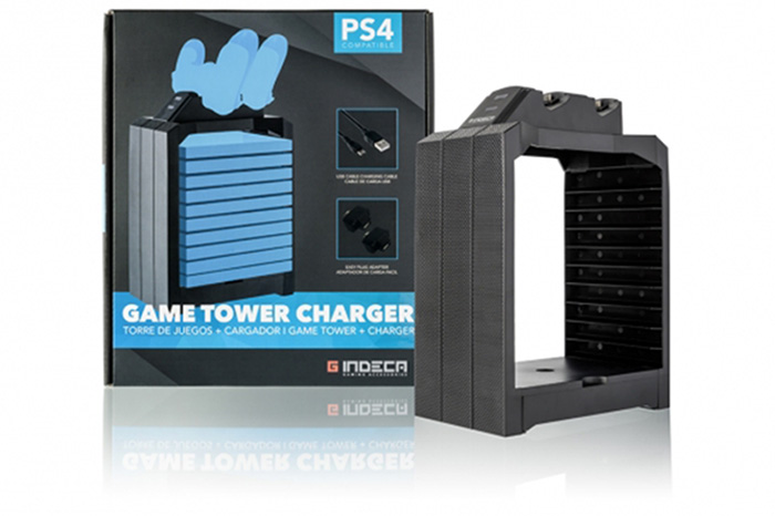 game tower charge gamepad ps4 indeca torre de carga para mandos y juegos ps4 complementos ps4 periféricos útiles para jugadores ideal para gamers gaming accesorios