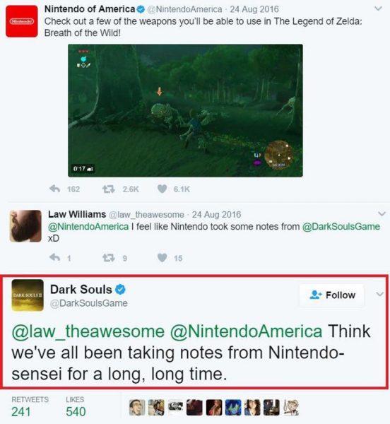zelda breath of the wild darksouls tweet analisis critica reportaje nintendo zleda wiiu switch borntoplay