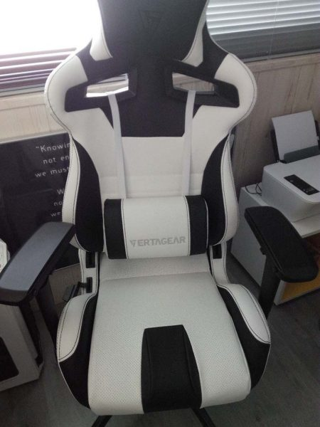 Vertagear Racing Series SL4000 Silla Gaming Blanca Negra, sillas gaming, sillas esports, sillas para jugar pc, sillas para el pc